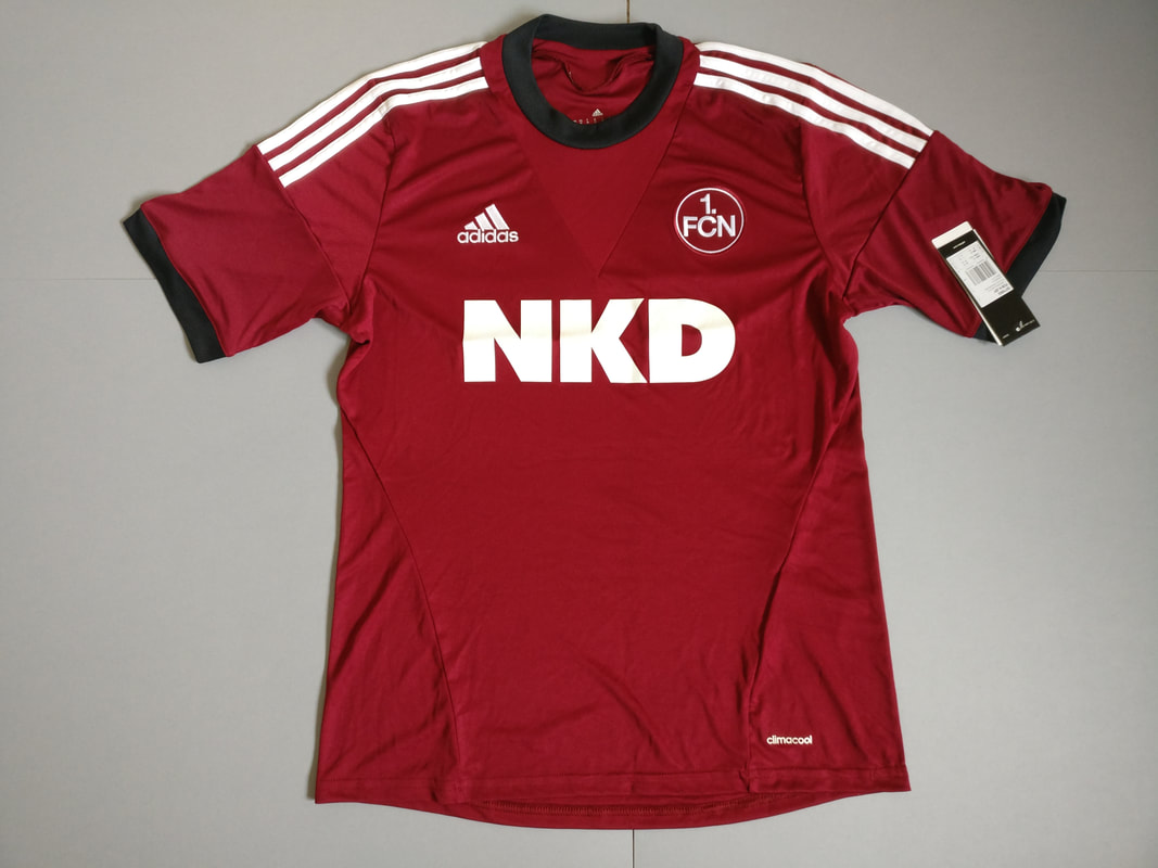 1. FC Nurnberg Home 2013/2014 Football Shirt Manufactured By Adidas. The Team Plays Football In Germany..