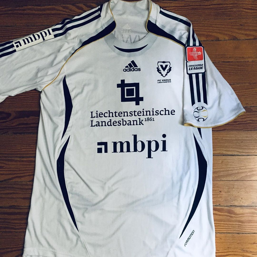 FC Vaduz Away 2007/2008 Football Shirt Manufactured By Adidas. The club plays football in Switzerland.