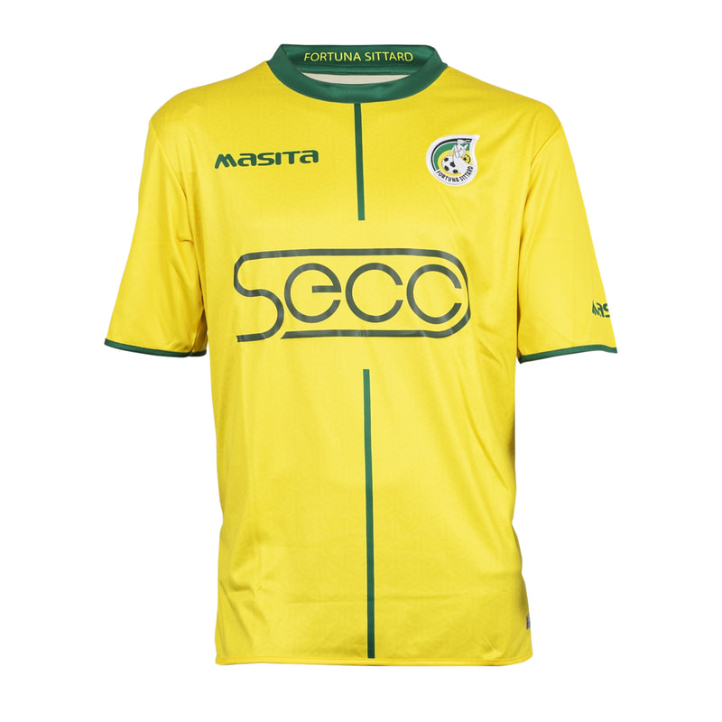 Fortuna Sittard Home 2019/2020 Football Shirt Manufactured By Masita. The Club Plays Football In The Netherlands.