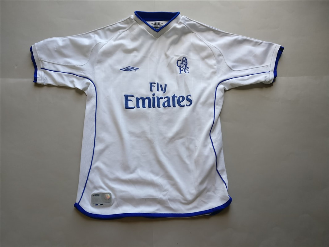 Chelsea F.C. Third 2002/2003 Football Shirt Manufactured By Umbro. The shirt was sponsored by Fly Emirates.