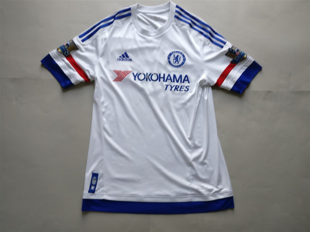 Chelsea F.C. Away 2015/2016 Football Shirt Manufactured By Adidas. The Shirt Is Sponsored By Yokoham Tyres.