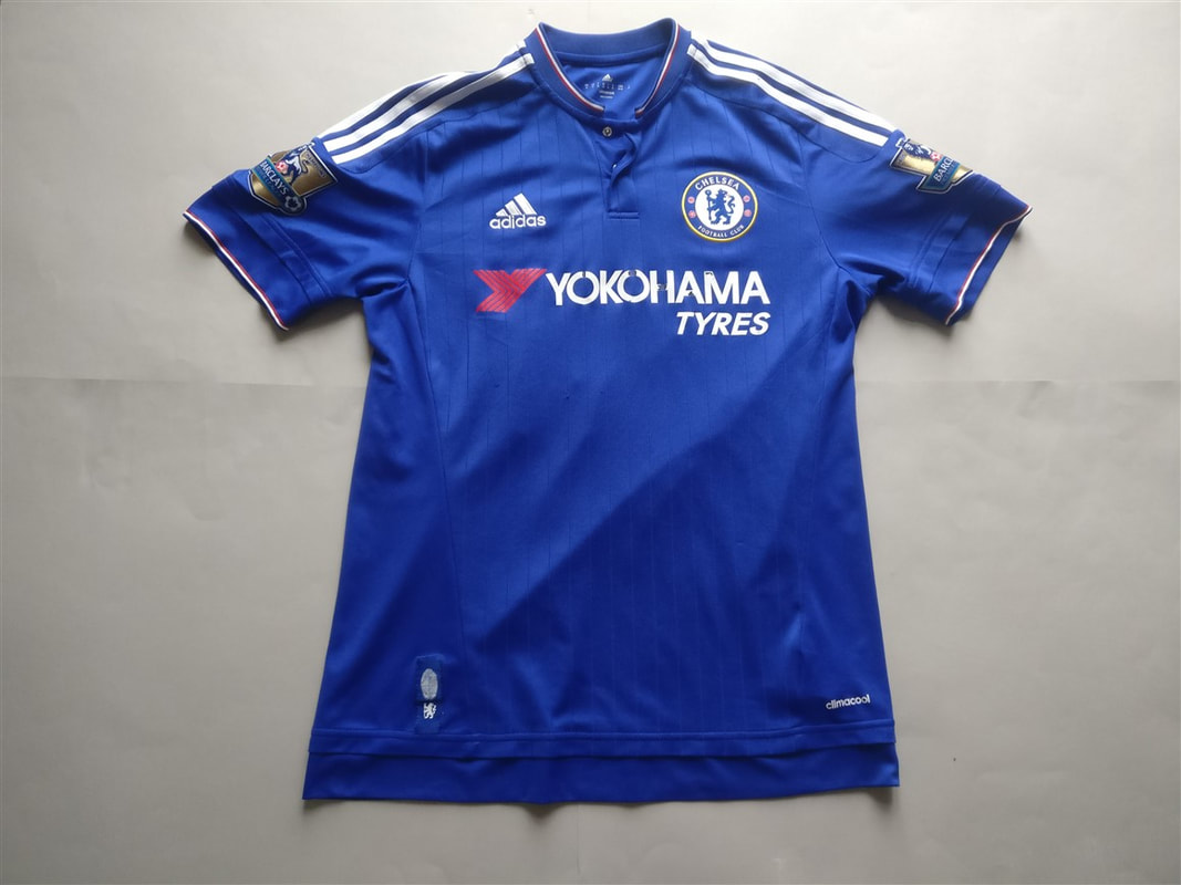 Chelsea F.C. Home 2015/2016 Football Shirt Manufactured By Adidas. The Shirt Is Sponsored By Yokoham Tyres.