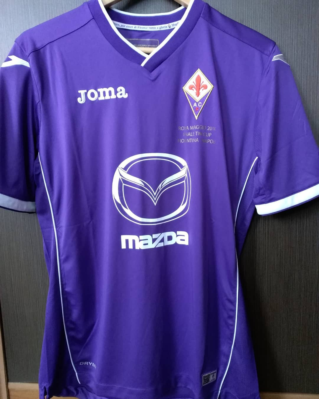 Fiorentina Home 2014 Cup Football Shirt. Club Footbal Shirts.