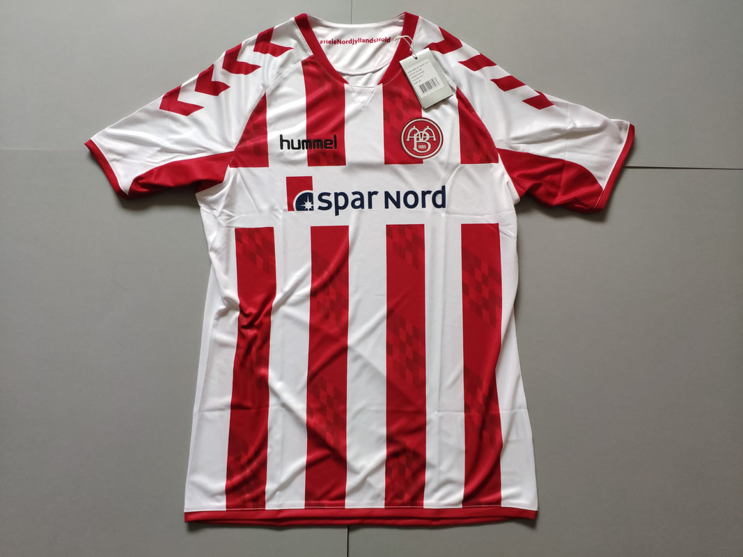 AaB Fodbold Home 2016/2017 Football Shirt Manufactured By Hummel. The Team Plays Football In Denmark.