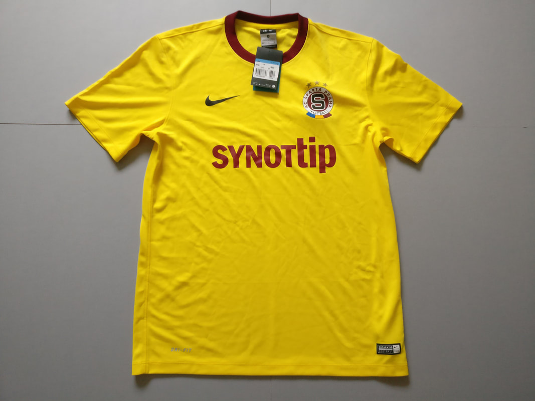 AC Sparta Prague Away 2014/2015 Football Shirt Manufactured By Nike. The Team Plays Football In Czechia.