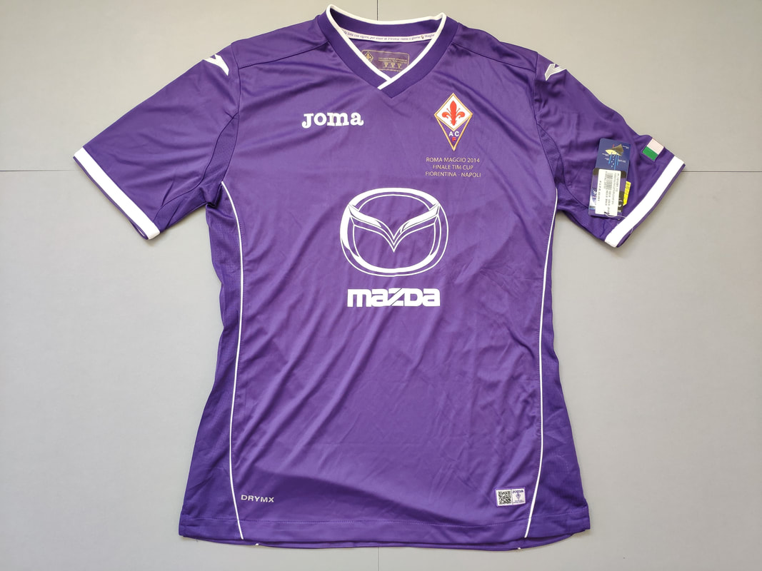 ACF Fiorentina Cup Edition 2013/2014 Football Shirt Manufactured By Joma. The Club Plays Football In Italy.