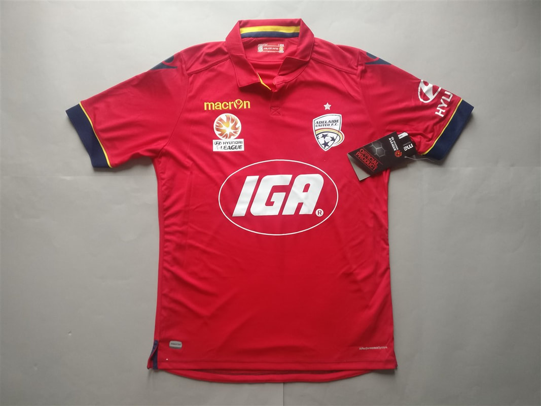 Adelaide United FC Home 2016/2017 Shirt. BNWT. Medium. Club Football Shirts.