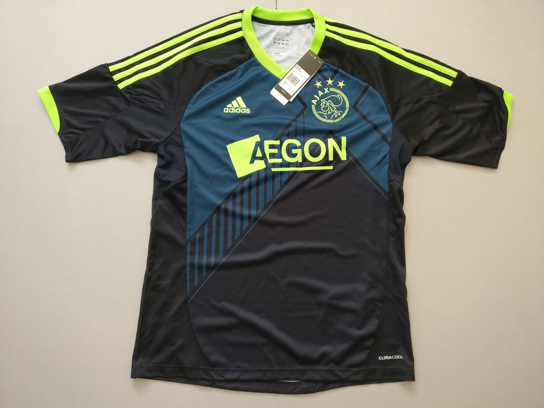 AFC Ajax Away 2012 2013 Football Shirt Manufactured By Adidas. The Team Plays Football In The Netherlands.