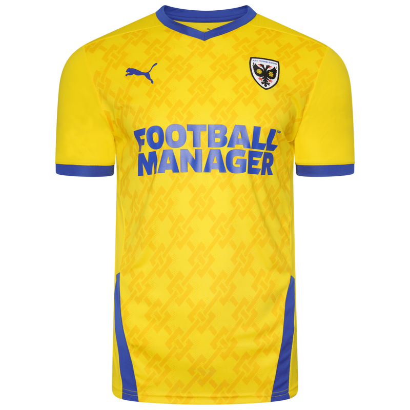 AFC Wimbledon Away 2020/2021 Football Shirt Manufactured By Puma. The Club Plays Football In League One.