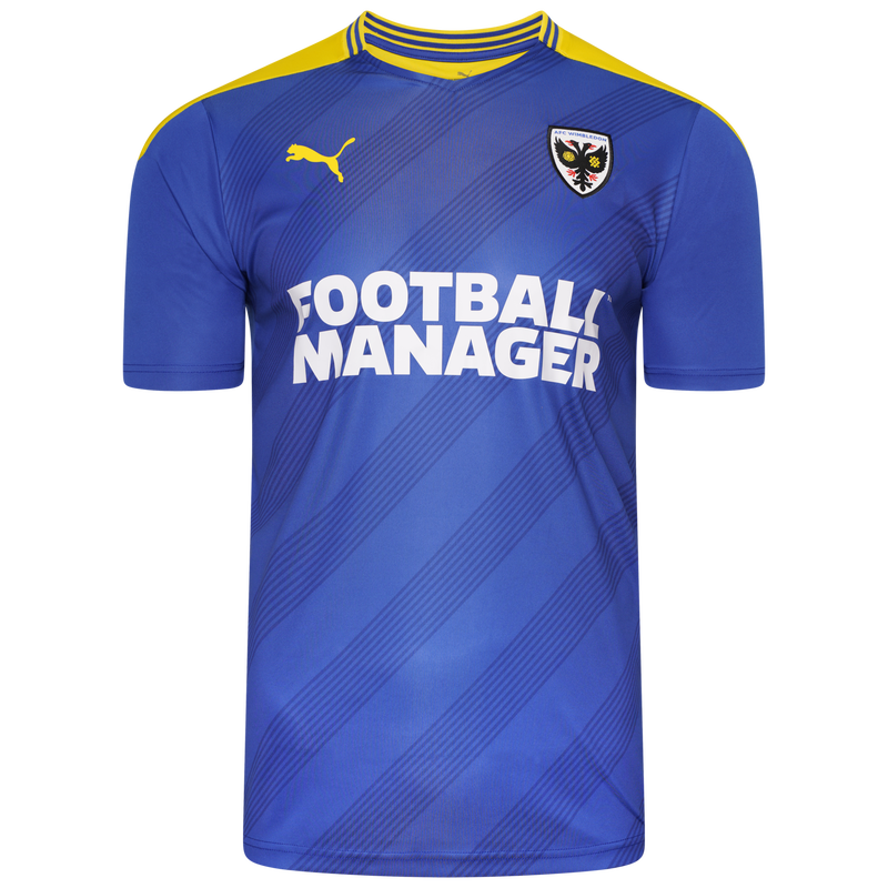AFC Wimbledon Home 2020/2021 Football Shirt Manufactured By Puma. The Club Plays Football In League One.