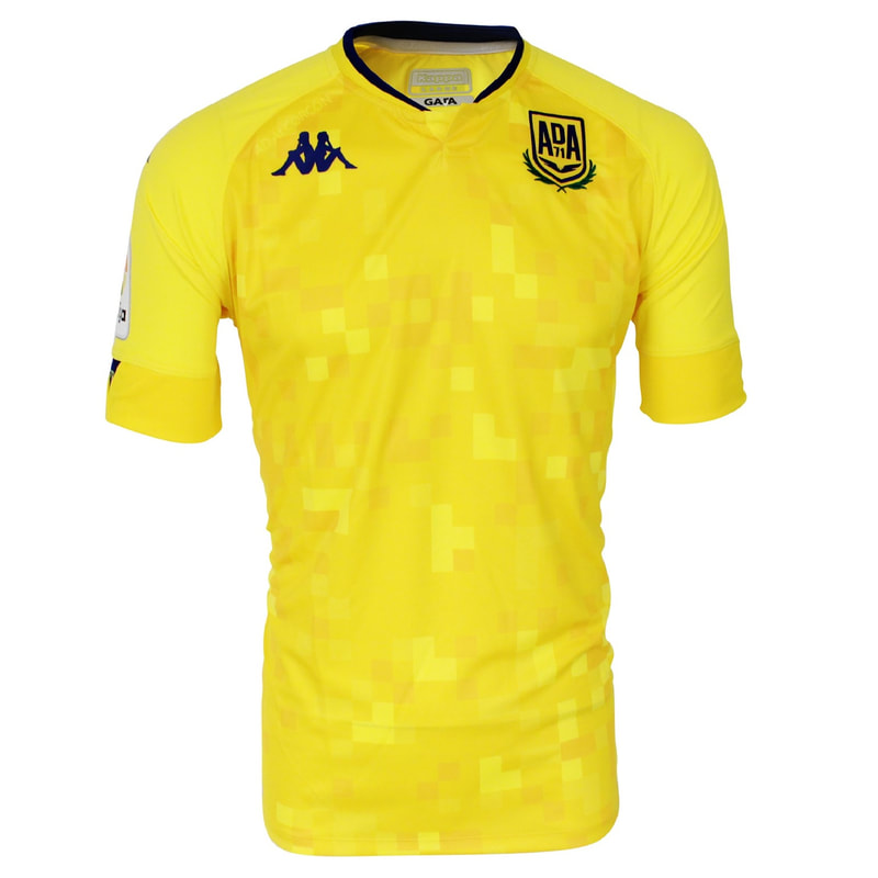 Alcorcón Home 2020/2021 Football Shirt Manufactured By Kappa. The Club Plays Football In Spain.