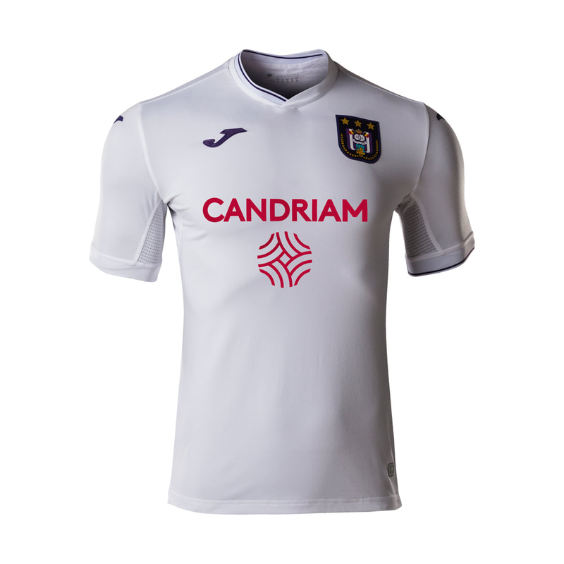 Anderlecht Away 2020/2021 Football Shirt Manufactured By Joma. The Club Plays Football In Belgium.