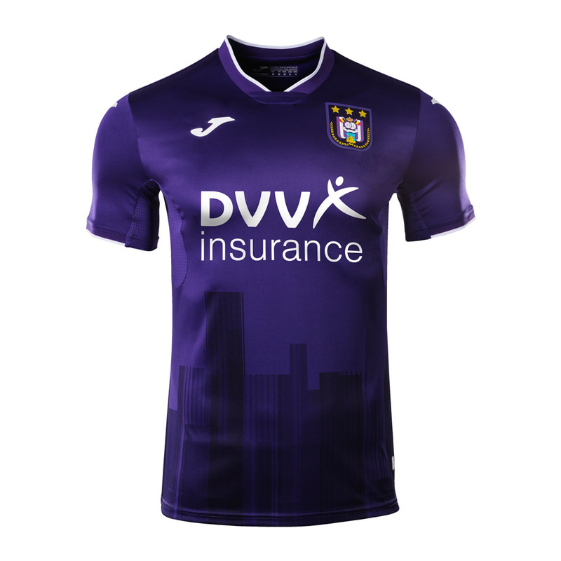 Anderlecht Home 2020/2021 Football Shirt Manufactured By Joma. The Club Plays Football In Belgium.