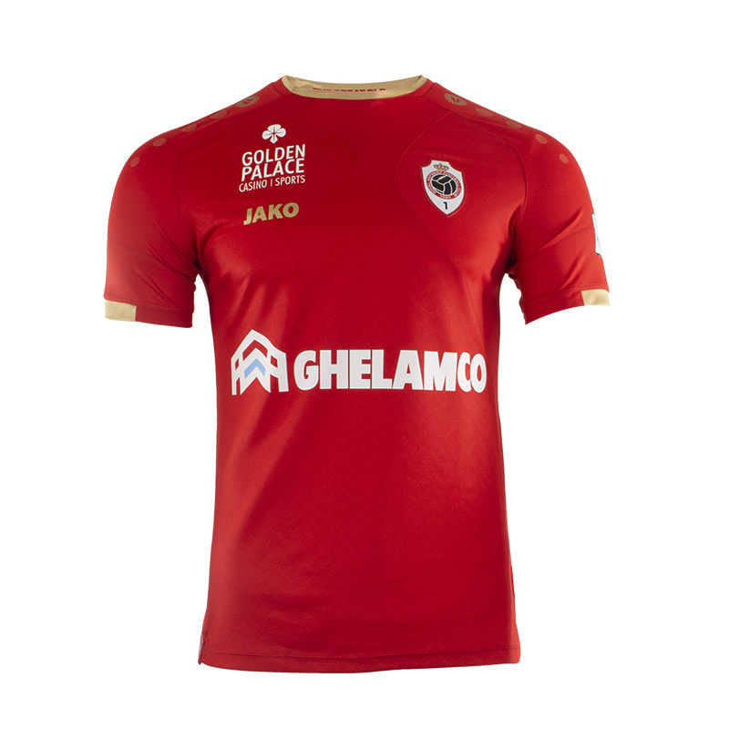 Antwerp Home 2019/2020 Football Shirt Manufactured By Jako. The Club Plays Football In Belgium.