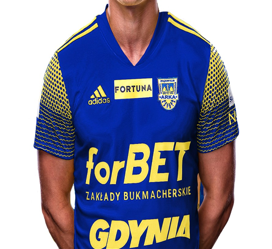 Arka Gdynia Away 2020/2021 Football Shirt Manufactured By Adidas. The Club Plays Football In Poland.