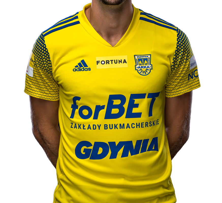 Arka Gdynia Home 2020/2021 Football Shirt Manufactured By Adidas. The Club Plays Football In Poland.