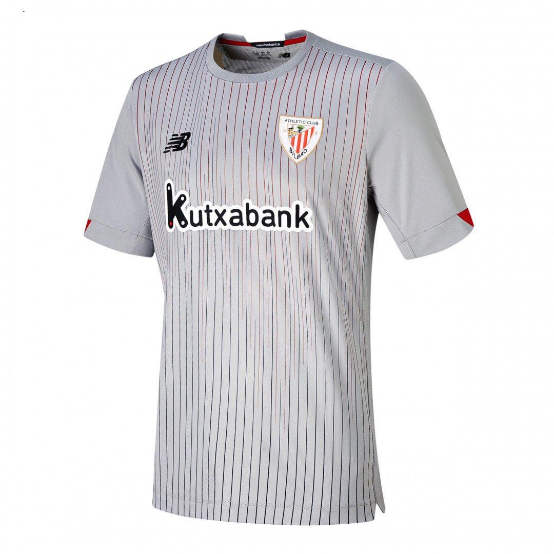 Athletic Bilbao Away  2020/2021 Football Shirt Manufactured By New Balance. The Club Plays Football In Spain.