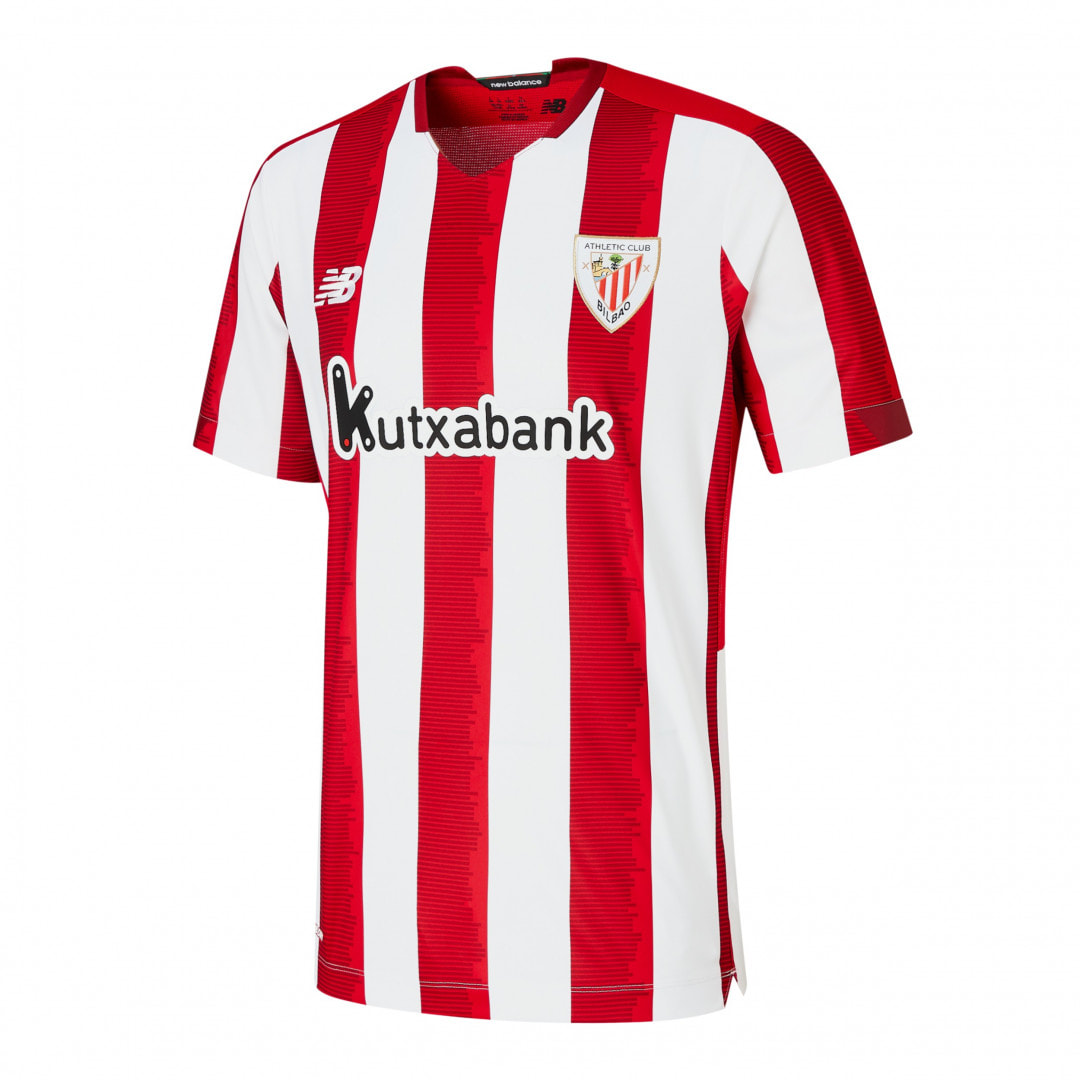 Athletic Bilbao Home 2020/2021 Football Shirt Manufactured By New Balance. The Club Plays Football In Spain.