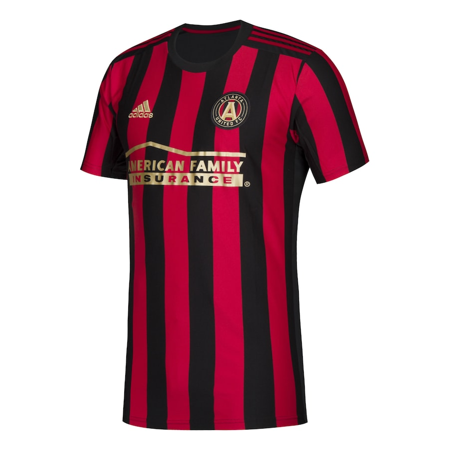 Atlanta United FC Home 2020 Football Shirt. The shirt is manufactured by Adidas and the club plays in MLS.