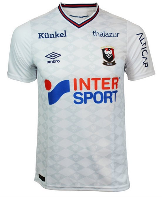 Caen Away 2018/2019 Shirt. Club Football Shirts.