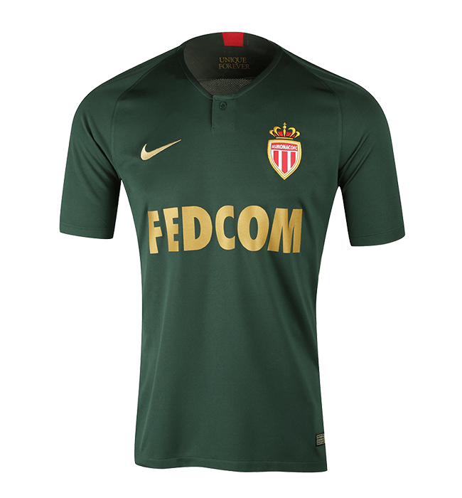Monaco Away 2018/2019 Shirt. Club Football Shirts.
