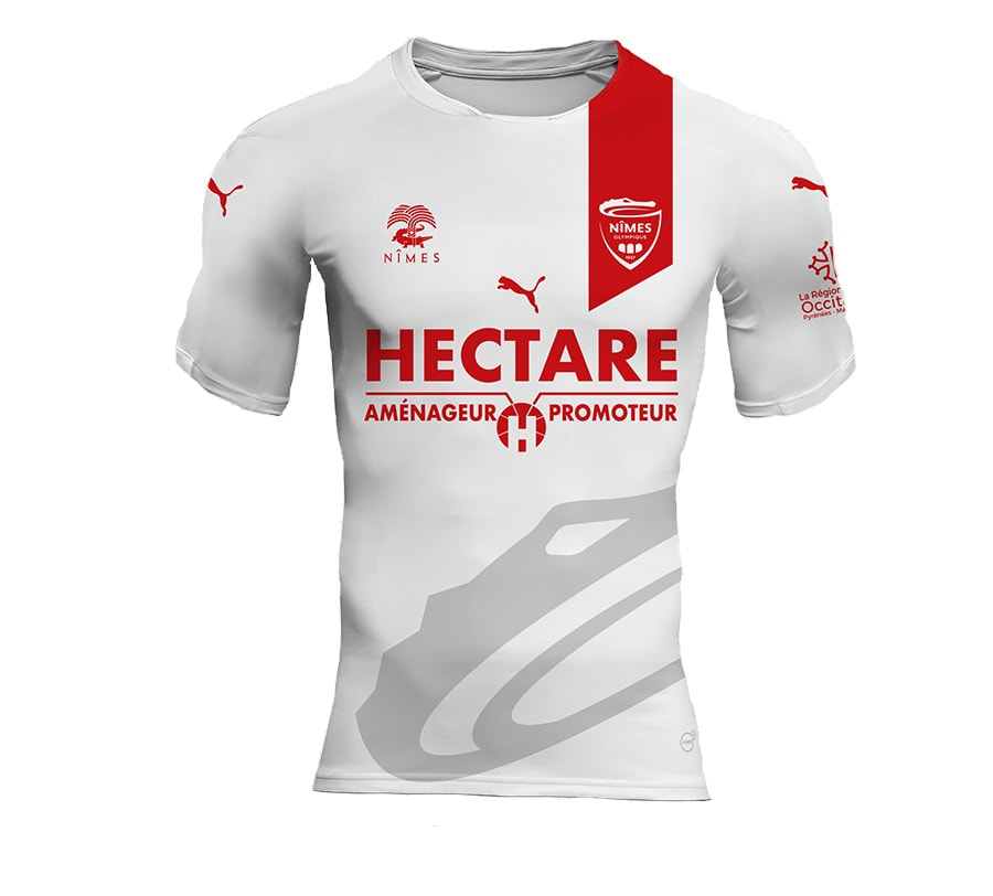 Nimes Away 2018/2019 Shirt. Club Football Shirts.