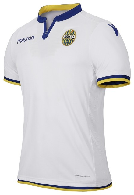 Hellas Verona Away 2018/2019 Shirt. Club Football Shirts.