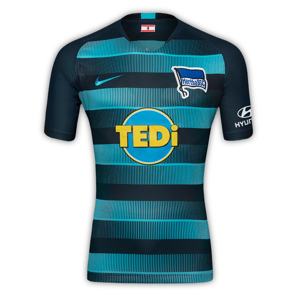 Hertha BSC Away 2018/2019 Shirt.