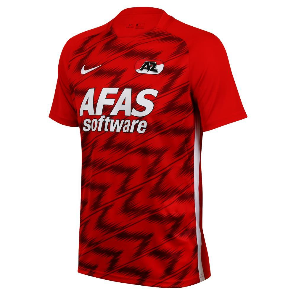AZ Home 2020/2021 Football Shirt Manufactured By Nike. The Club Plays Football In The Netherlands.