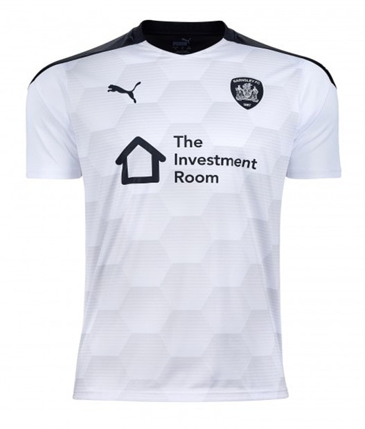 Barnsley Away 2020/2021 Football Shirt Manufactured By Puma. The Club Plays Football In The Championship.