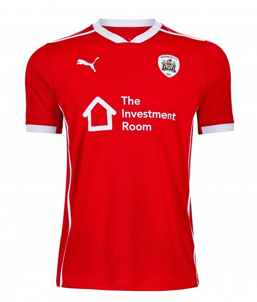Barnsley Home 2020/2021 Football Shirt Manufactured By Puma. The Club Plays Football In The Championship.