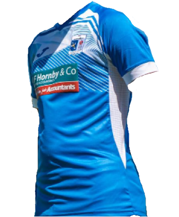 Barrow Home 2020/2021 Football Shirt Manufactured By Joma. The Club Plays Football In England.
