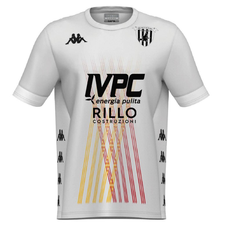 Benevento Away 2020/2021 Football Shirt Manufactured By Kappa. The Club Plays Football In Italy.