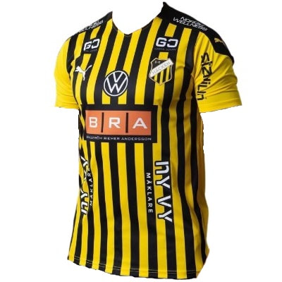 BK Häcken Home 2021 Football Shirt Manufactured By Puma. The Club Plays Football In Sweden.