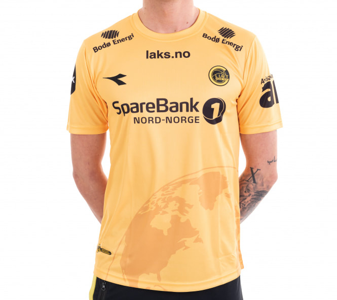 Bodø/Glimt Home 2020 Football Shirt Manufactured By Diadora. The Club Plays Football In Norway.