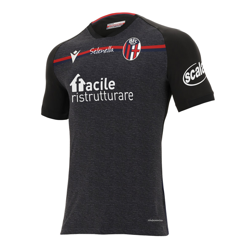 Bologna Third 2020/2021 Football Shirt Manufactured By Macron. The Club Plays Football In Italy.