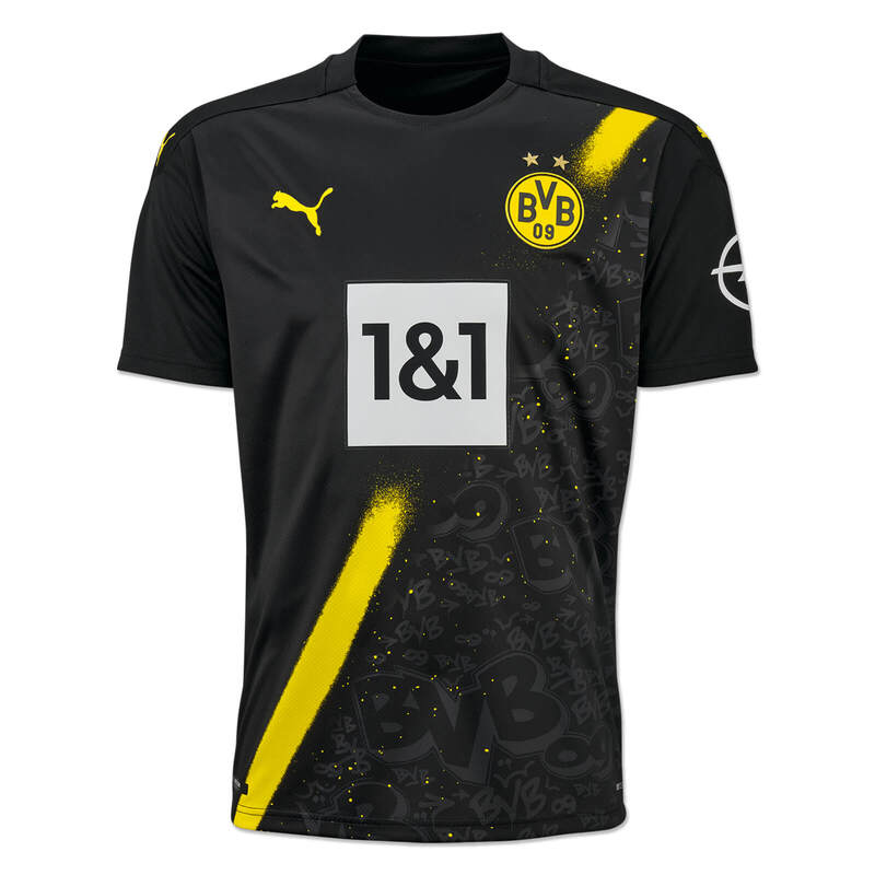 Borussia Dortmund Away 2020/2021 Football Shirt Manufactured By Puma. The Club Plays Football In Germany.