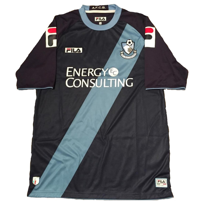 Bournemouth Away 2012/2013 Football Shirt Manufactured By Fila. The Club Plays Football In England.