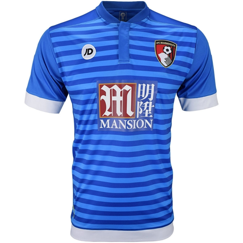 Bournemouth Away 2016/2017 Football Shirt Manufactured By JD Sports. The Club Plays Football In England.