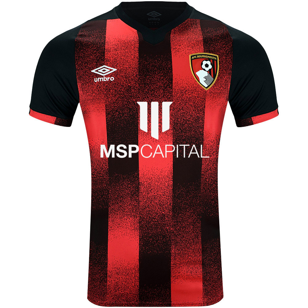 Bournemouth Home 2020/2021 Football Shirt Manufactured By Umbro. The Club Plays Football In England.