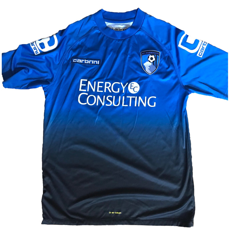 Bournemouth Third 2014/2015 Football Shirt Manufactured By Carbrini. The Club Plays Football In England.