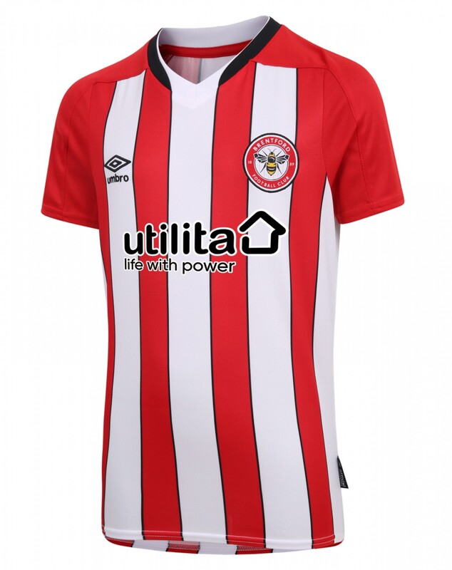 Brentford Home 2020/2021 Football Shirt Manufactured By Umbro. The Club Plays Football In The Championship.
