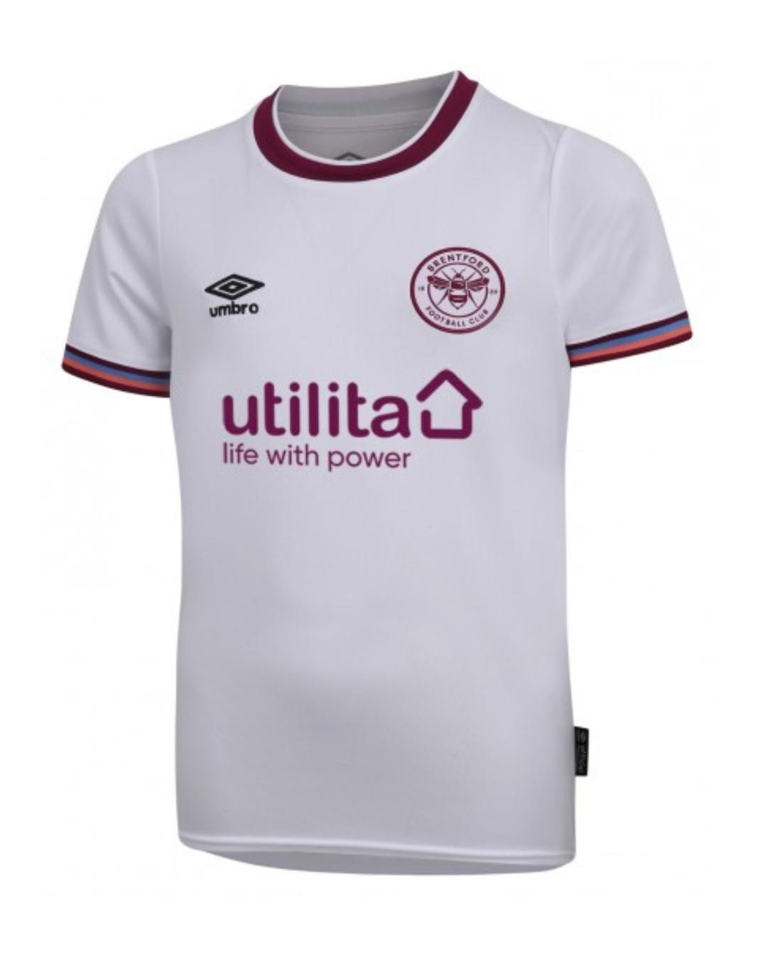 Brentford Third 2020/2021 Football Shirt Manufactured By Umbro. The Club Plays Football In The Championship.