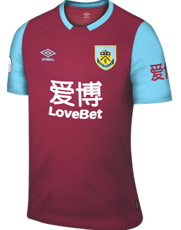 Burnley 2019/2020 Home Football Shirt Manufactured By Umbro. The Club Plays Football In England.