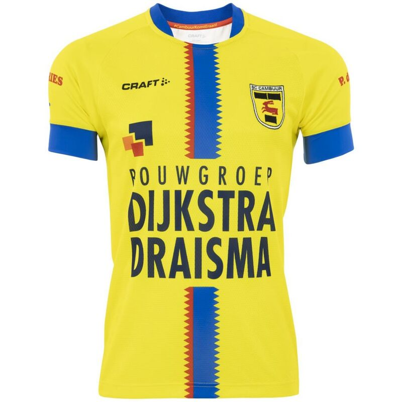 Cambuur Home 2020/2021 Football Shirt Manufactured By Craft. The Club Plays Football In The Netherlands.