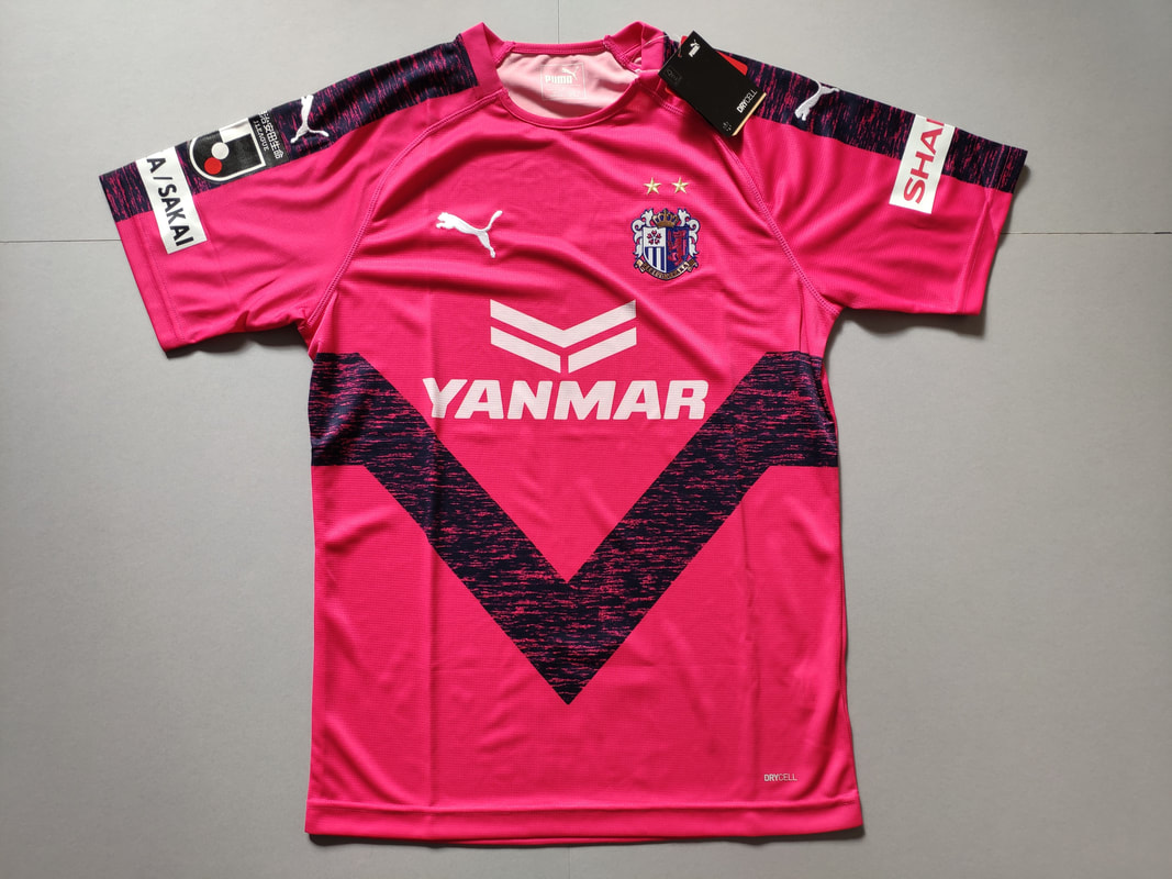 Cerezo Osaka Home 2019 Football Shirt Manufactured By Puma. The Club Plays Football In Japan.