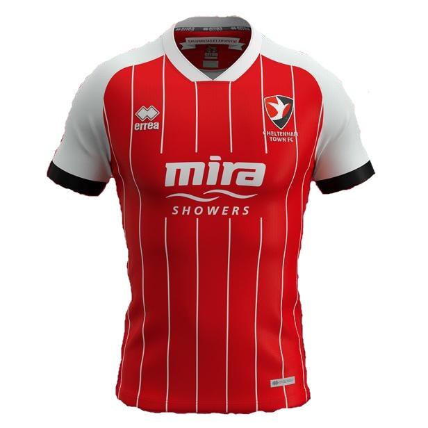 Cheltenham Town Home 2020/2021 Football Shirt Manufactured By Errea. The Club Plays Football In England.