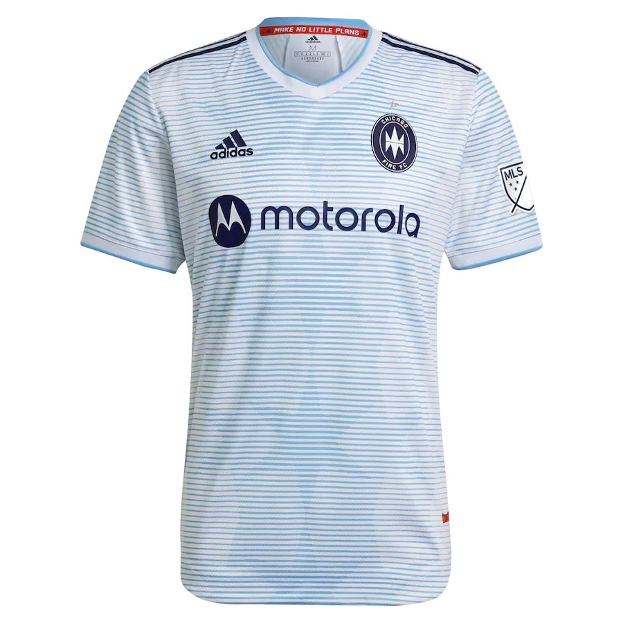 Chicago Fire FC Away 2021 Football Shirt. The shirt is manufactured by Adidas and the club plays in MLS.