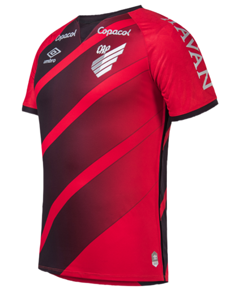 Club Athletico Paranaense Home 2020 Football Shirt. The shirt is manufactured by Umbro and the club plays in Brazil.