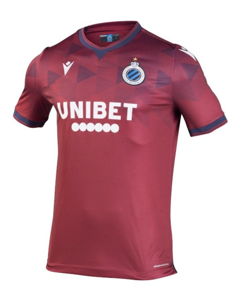 Club Brugge Away 2020/2021 Football Shirt Manufactured By Macron. The Club Plays Football In Belgium.
